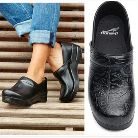 Dansko Professional Tooled Leather Clog